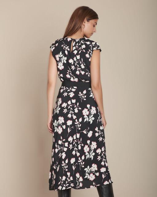reputable site 36db5 39761 Schwarzes Kleid mit Blumenprint Romance Damen | Maison 123