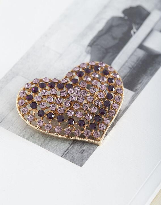Broche cœur en strass Tara (2) - Maison 123