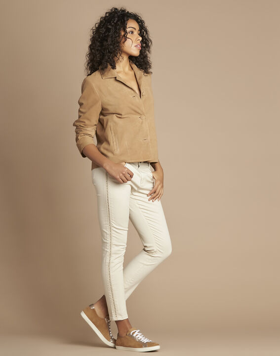 Tilane short camel suede jacket PhotoZ | 1-2-3