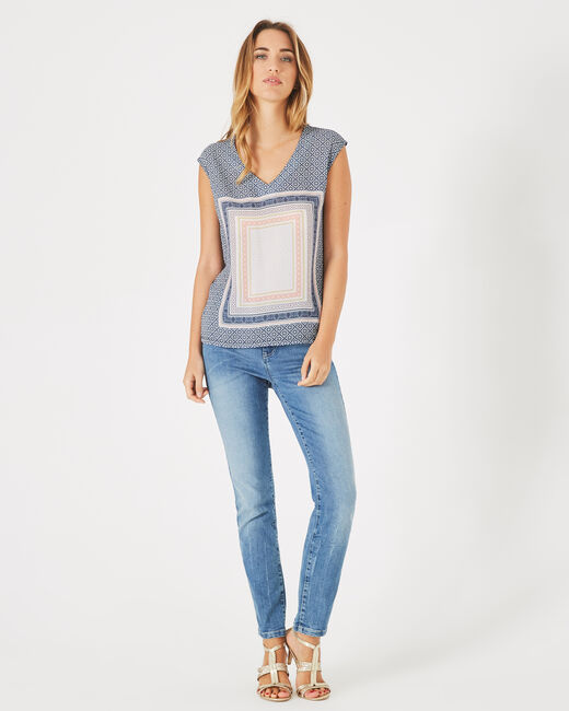 Tee-shirt marine imprimé Beverly (2) - 1-2-3
