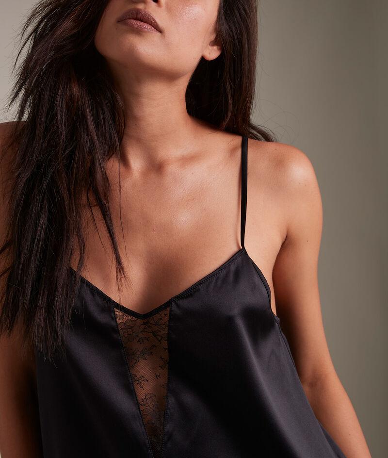 Caraco en soie et coton noir Chloé PhotoZ | 1-2-3