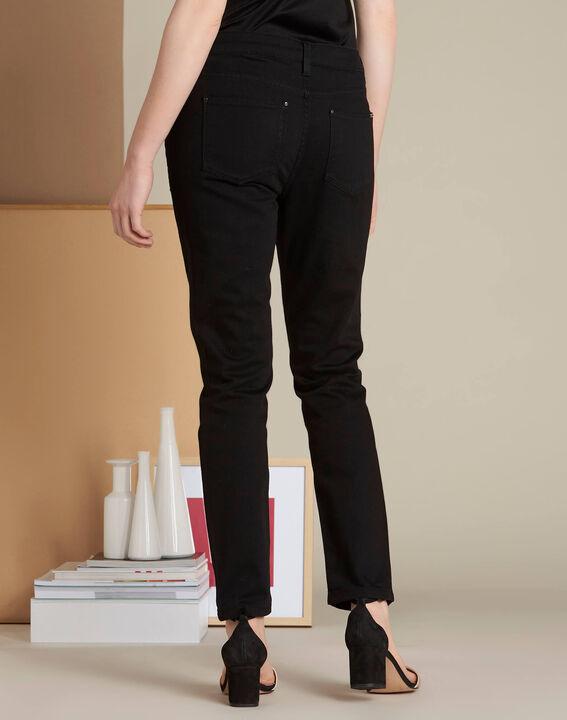 Schwarze 7/8-Slim-Fit-Jeans Vendome (4) - 1-2-3