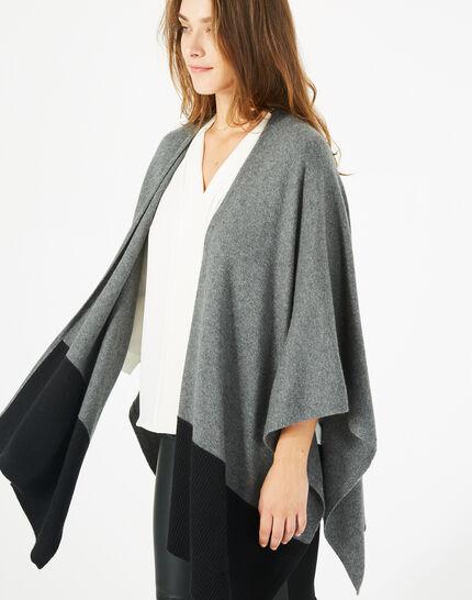 Cape noire et gris chiné en laine Polly (3) - 1-2-3