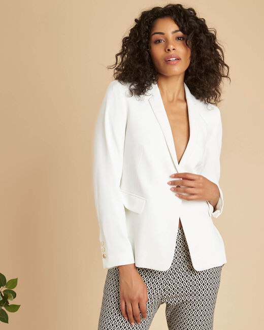 Christy white buttoned blazer (2) - 1-2-3