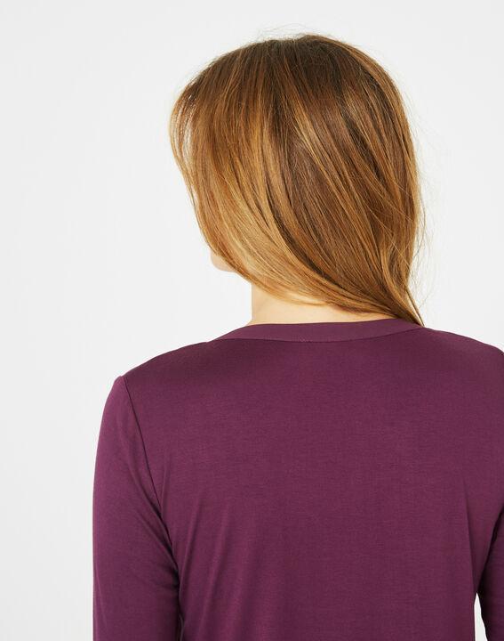 Cassisfarbenes 3/4-Arm-T-Shirt Bianca (4) - 1-2-3