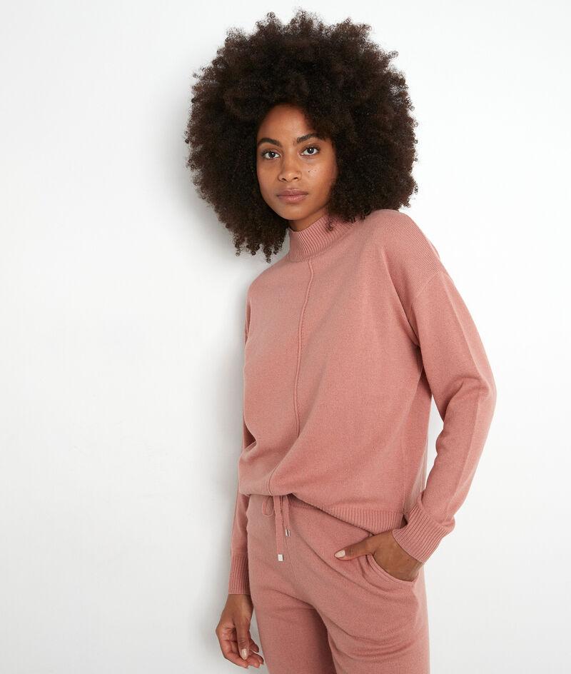 Blushroze trui met hoge kraag Tibo PhotoZ | 1-2-3