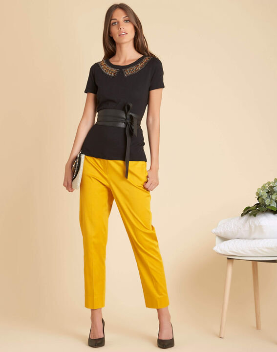 Rubis 7/8 length yellow trousers (2) - 1-2-3