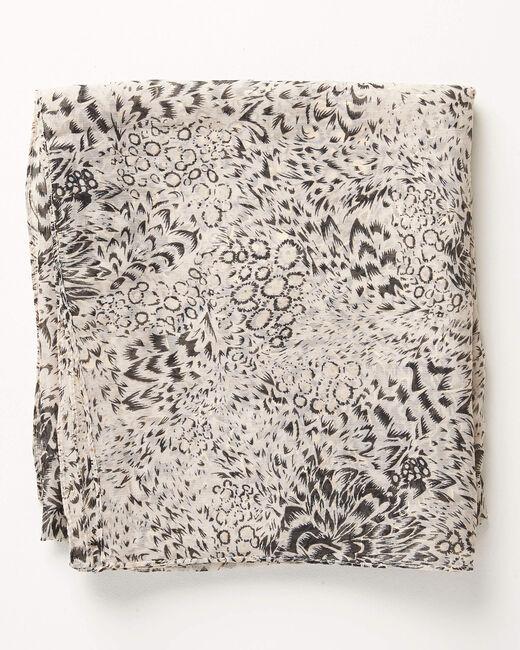 Foulard noir imprimé détails dorés Amy (1) - 1-2-3