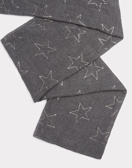 Graumelierter Schal Etoile (2) - 1-2-3