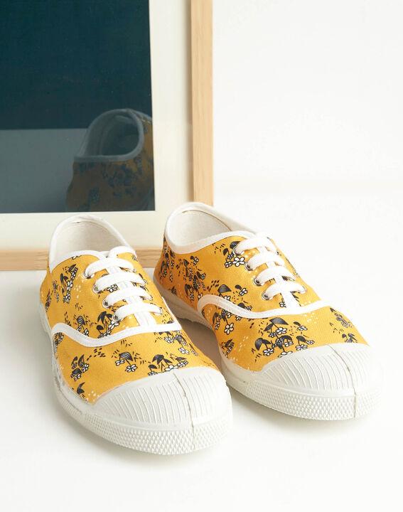 Baskets jaunes imprimé fleuri Kassandre (2) - 1-2-3