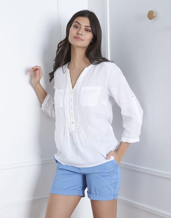 Chemise blanche en lin Roma (1) - Maison 123