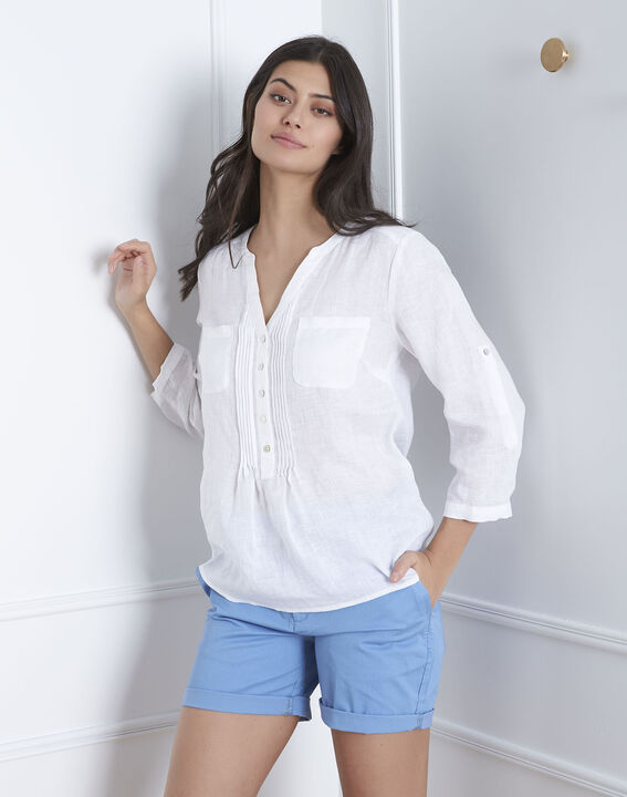Chemise blanche en lin roma