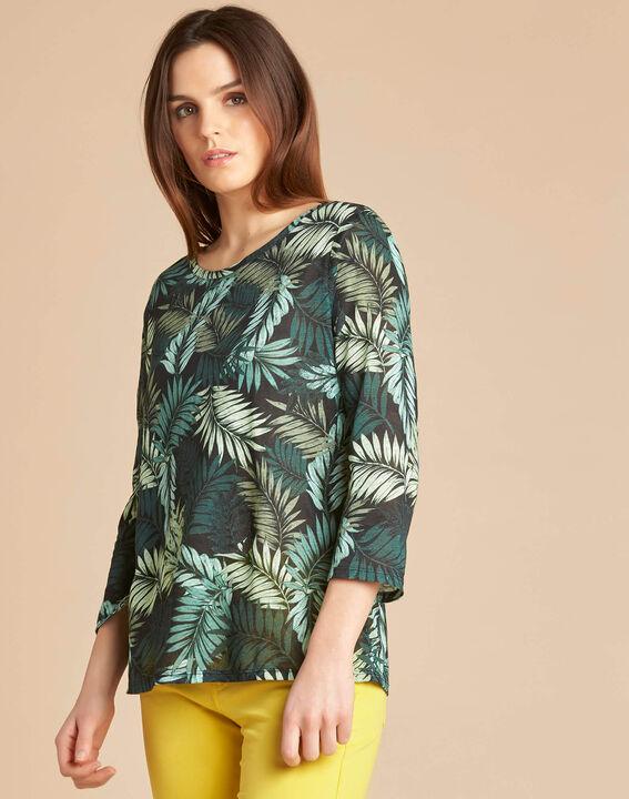 3/4-Arm-T-Shirt mit Blätterprint Ebahi (3) - 1-2-3