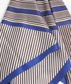 Carré de soie rayé marron et bleu Frisbee PhotoZ | 1-2-3