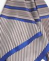 Carré de soie rayé marron et bleu Frisbee (2) - 1-2-3