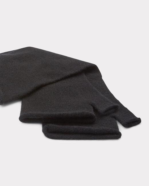 Mitaines noires en cachemire Trèfle (2) - 1-2-3