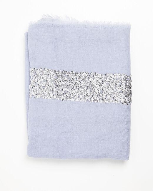 Foulard azur sequins en laine Fiona (1) - 1-2-3