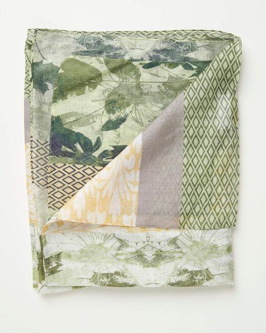 Foulard imprimé fleuri et motifs géométriques Adonis (2) - 1-2-3