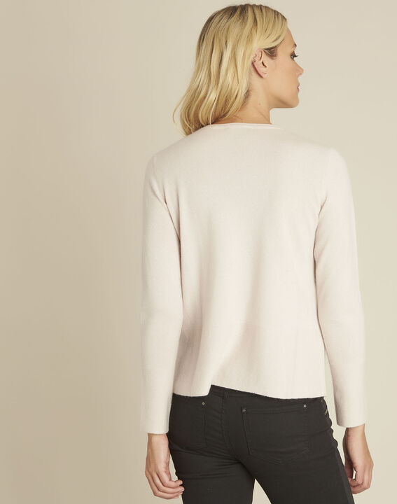 Pull rose cachemire poches Brume (4) - 37653