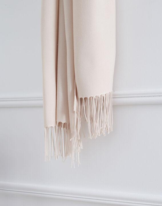 Fossette nude viscose fringed scarf  PhotoZ | 1-2-3