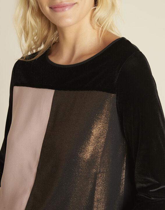 Charlize black bi-material top (3) - 1-2-3
