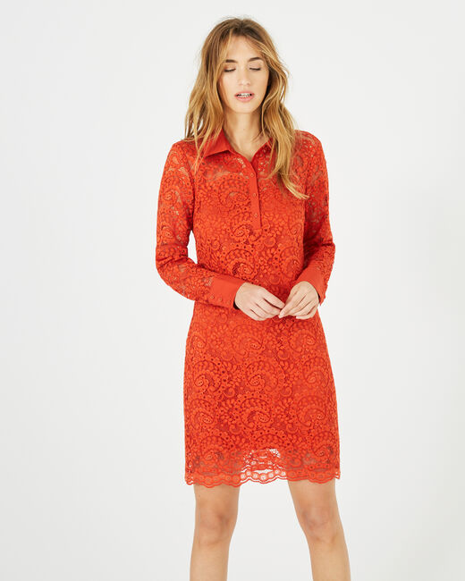 Robe orange en dentelle Amazone (2) - 1-2-3