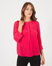 Dorothée fuchsia silk blouse light fuchsia.