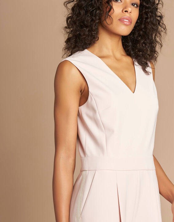 Pomme pink sleeveless cropped jumpsuit (4) - 1-2-3