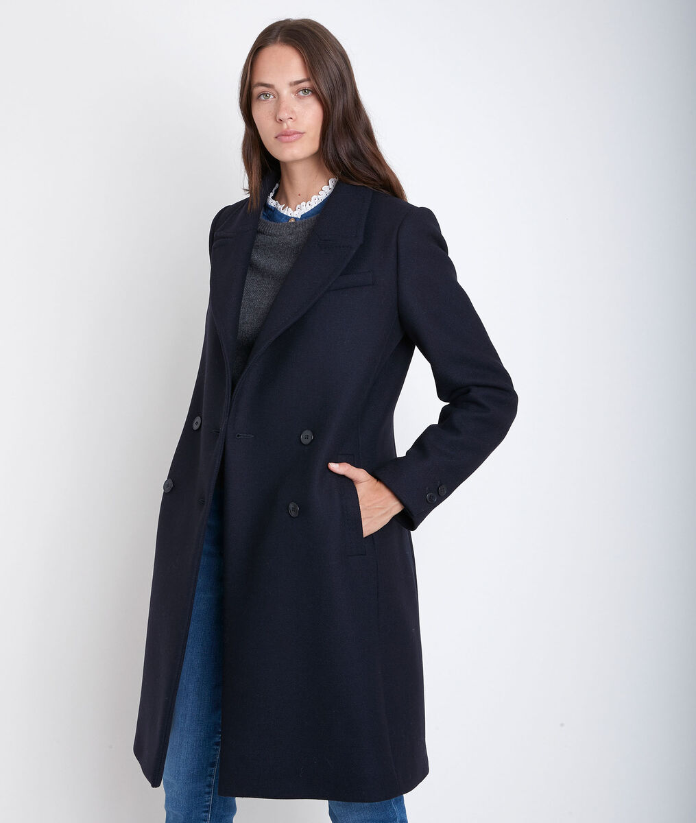 Manteau en laine recyclée marine Jeff PhotoZ | 1-2-3