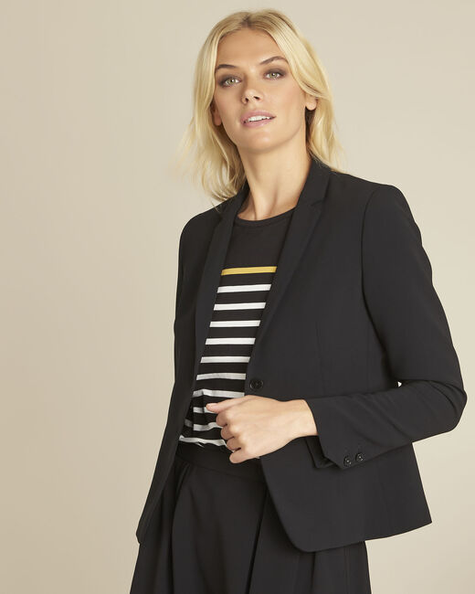 Eve black belted jacket in microfibre (1) - 1-2-3