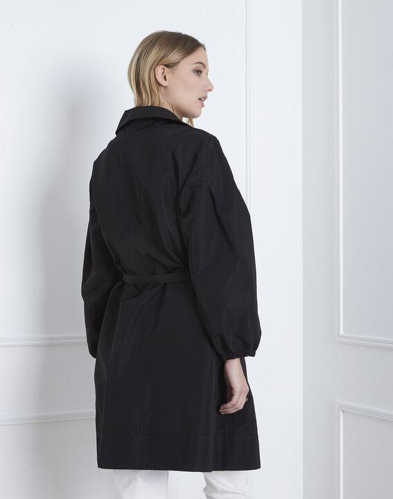 Schwarzer Trenchcoat mit Gürtel Daniela (5) - Maison 123