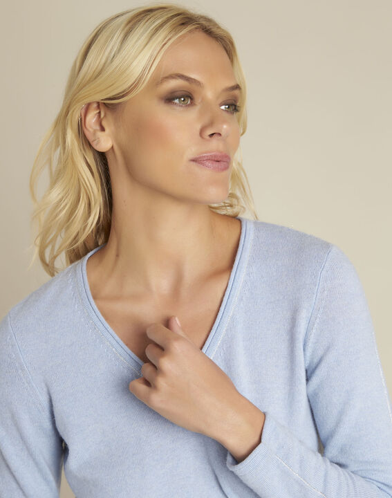 Boogie azure blue wool cashmere pullover (3) - 1-2-3
