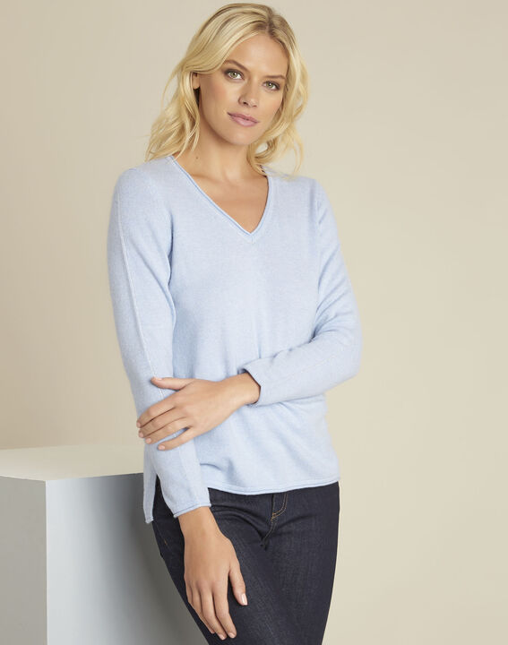 Boogie azure blue wool cashmere pullover PhotoZ | 1-2-3
