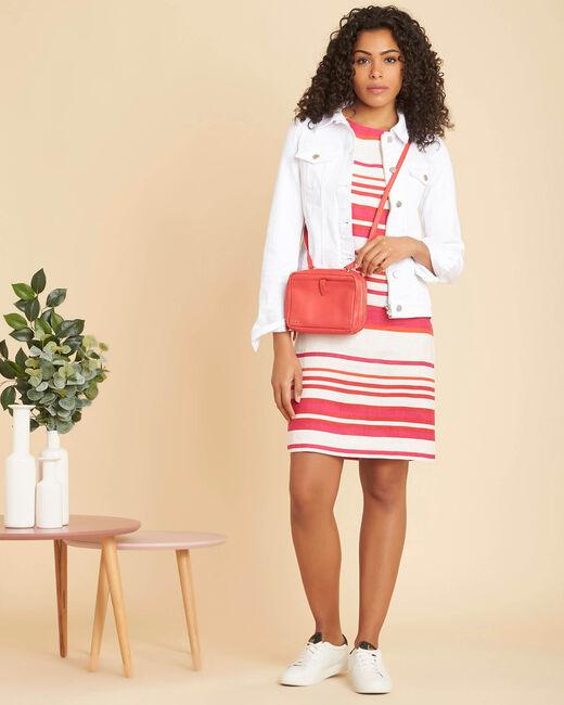 Berangere striped fuchsia linen dress (1) - 1-2-3
