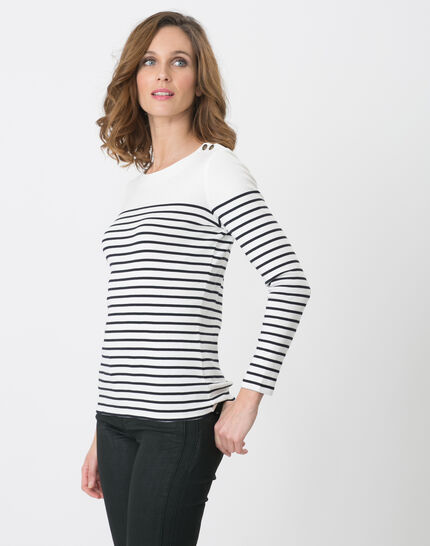 T-Shirt mit marineblauen Streifen Naval (5) - 1-2-3