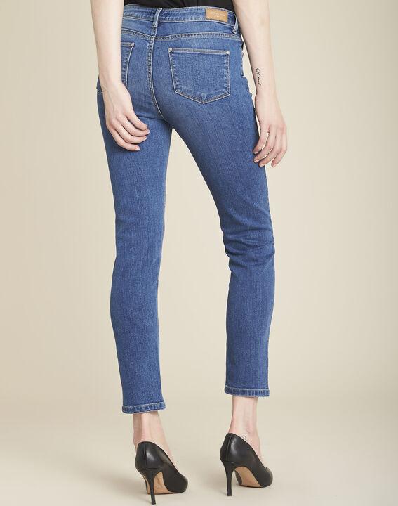 Vendôme slim-cut indigo jeans with zipped detailing (4) - 1-2-3
