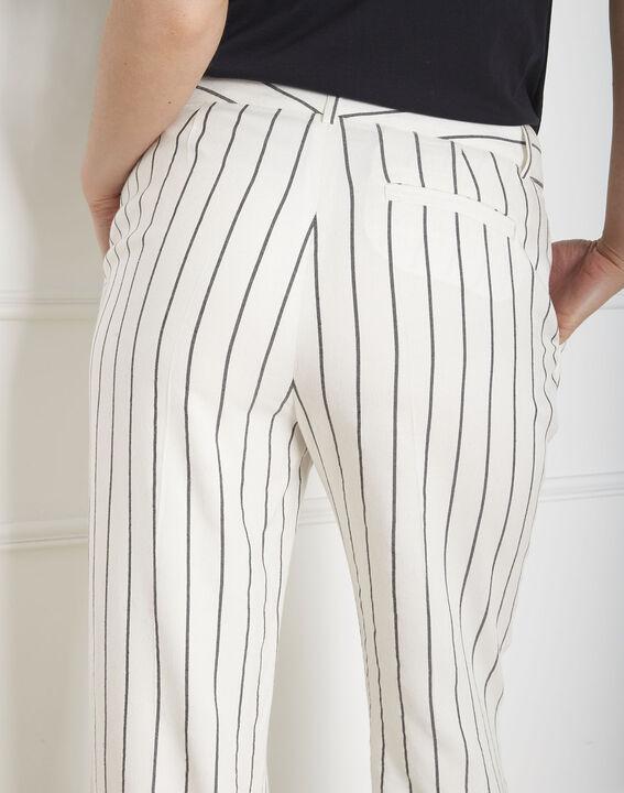 Pantalon écru rayé Gaylord (3) - Maison 123