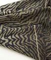 Kaki vierkante sjaal van zijde met dierenprint Anouk PhotoZ | 1-2-3