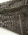 Kaki vierkante sjaal van zijde met dierenprint Anouk (1) - 37653