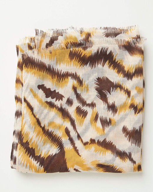 Foulard imprimé animal caramel Altesse (1) - 1-2-3