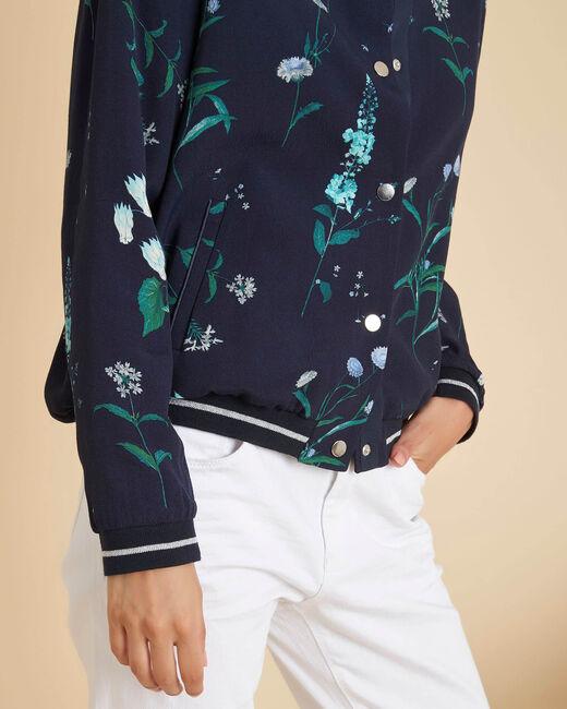 Marineblauw jasje met bloemenprint Cyrius (2) - 37653