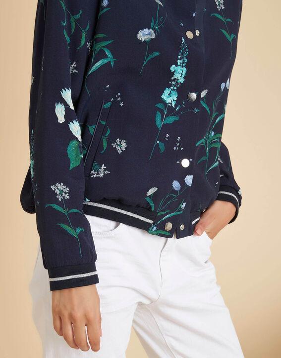 Marineblaue Jacke mit Blumenprint Cyrius PhotoZ | 1-2-3