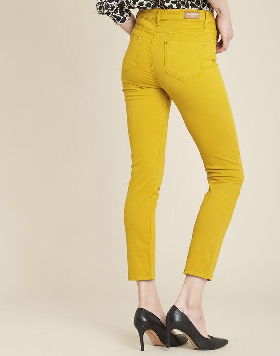 Jean jaune slim 7/8ème satin de coton Vendome (4) - 1-2-3