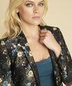 Demoiselle black jacket with floral print PhotoZ | 1-2-3