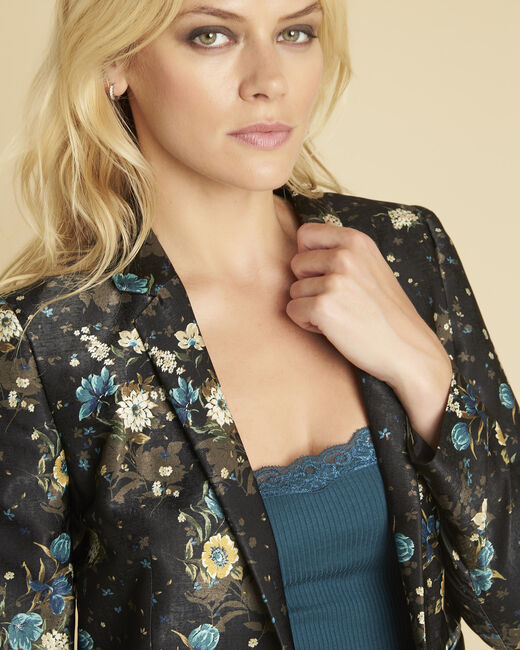 Demoiselle black jacket with floral print (2) - 1-2-3