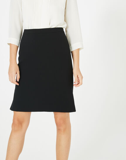 Fanfare straight-cut black tailored skirt (1) - 1-2-3