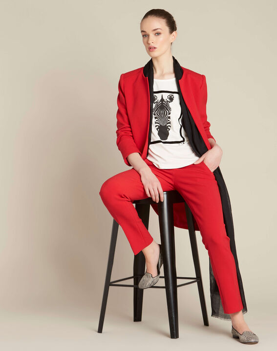 Ecrufarbenes T-Shirt mit Zebra-Print Echo (2) - 1-2-3