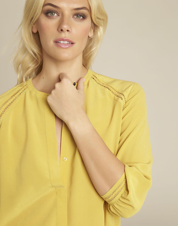 Cleopatre yellow lace and silk blouse (3) - 1-2-3
