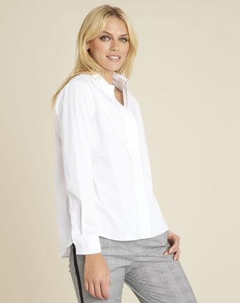 Chemise blanche en popeline cyrielle blanc.
