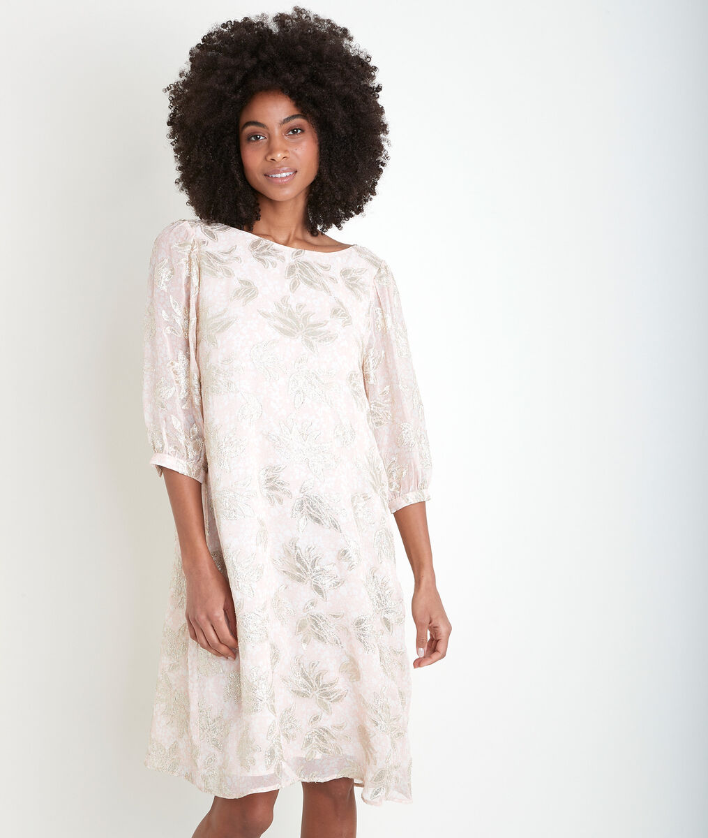 Robe en jacquard rose Malika PhotoZ | 1-2-3
